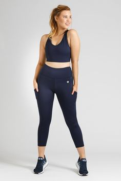 Smart Pocket 7/8 Length Tight - Navy – Active Truth™ Perfect Fit, Tights, Pockets, Crop Tops, Navy, Model, How To Wear, Collection, Style