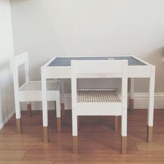 IKEA Latt table and chairs hack