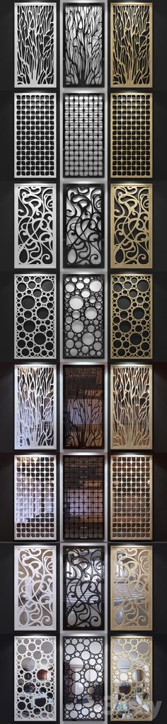3d models: Other decorative objects - Set of decorative panels