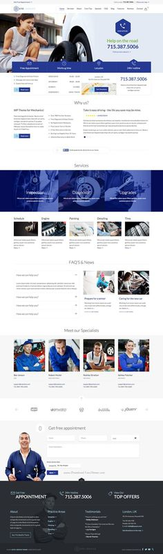 Perfect #Auto #Car Repair Mechanic Shop #Responsive Theme #webdesign: