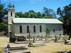 Molokai- Father Damien's church at Kamalo where mom, grandparents and Ohana (family) are buried.