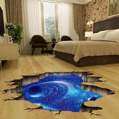 Removable Wall Stickers Space Galaxy Stars Planets Universe Art Room Decor US