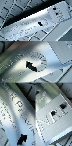 Custom Etched And Laser Cut Stainless Steel Metal Business Card
