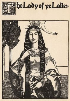 Illustration made by Howard Pyle for the Arthurian legends.