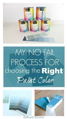Choosing the wrong paint color can be expensive and time consuming! Follow my no-fail method for selecting the perfect color the first time! Save money, time and stress! #paintcolorselection #paintingtips #decoratingtips #DIYdecorating #paintcolortips