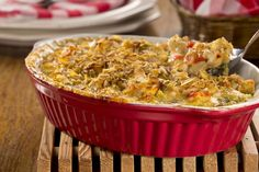 """Our Creamy Crunchy Chicken Casserole hits all the high notes. Plus, it comes together so quickly, you'll have this on the table before your gang can ask, """"What's for dinner?"""""""