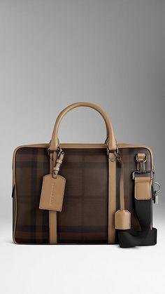 Smoked Check Briefcase | Burberry
