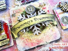 Art Recipes and More: 12 Days of Christmas - Daily ART dt project