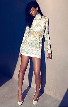 Rihanna in my favourite Balmain dress of the season