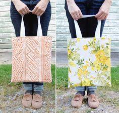 DIY: reversible tote bag