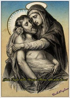 Jesus and Mother Mary Religious Tattoos, Religious Icons, Religious Art, Religious Pictures, Jesus Pictures, Holly Pictures, Blessed Mother Mary, Blessed Virgin Mary, La Salette