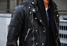 Tommy Ton's Street Style: Paris: 1/11 #moto #jacket