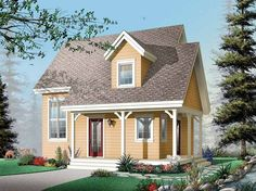 Eplans Country House Plan - A Fine Little Cottage - 1200 Square Feet and 2 Bedrooms from Eplans - House Plan Code HWEPL13003