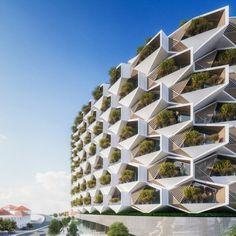 Porta la firma dello StudioVincent Callebaut Architectures,la foresta urbana galleggiante che potrebbe trovare sedesul fiume Leggi tutto
