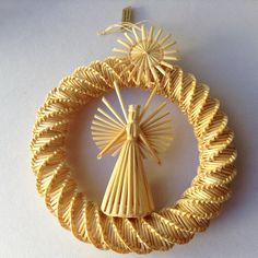 The Sandor Collection Straw Spinning Angel in by HouseOfHalo, $18.95