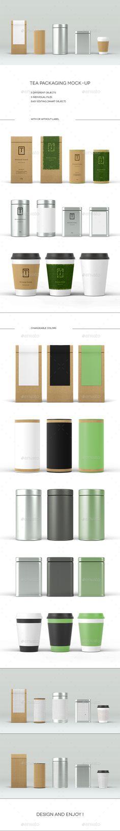 Tea Packaging Mock-Up #design Download: http://graphicriver.net/item/tea-packaging-mockup/14187464?ref=ksioks