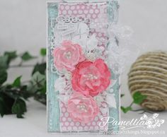 From Pamellia Johnson in Toronto, ON, Canada. My Little Craft Things: The Shabby Tea Room - Week - Polka Dot Love Shabby Chic Cards, Spellbinders Cards, Craft Things, Card Maker, Vintage Cards, Handmade Cards, Toronto, Polka Dots, Scrapbooking