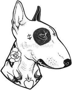 Tattooed Bullterrier