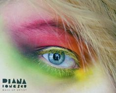rainbow too   photo & makeup: diana ionescu  products: Make-up for ever matt neon colors, Make-up for ever flash colors