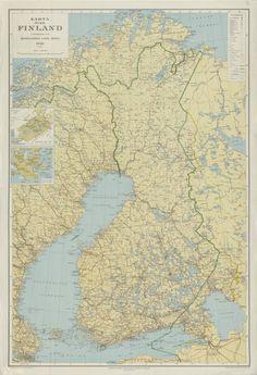 Finland, Regional, Posters, Maps, Historia, Poster, Billboard
