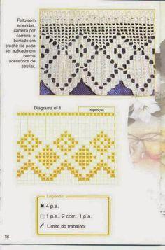 Bicos de crochê geométricos | Bicos de Croche