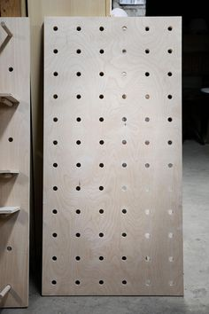 An Easy-ish DIY: Oversize Plywood Pegboard with Shelves - The Organized Home