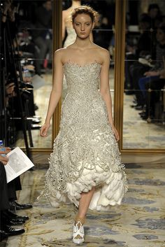 Tea length gown