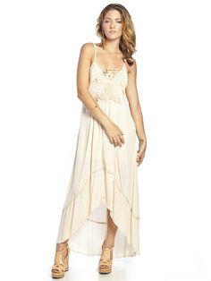 MAXI dress | ... Maxi Dresses - Elyse Crochet Detail Maxi Dress As Seen On Nicky Hilton
