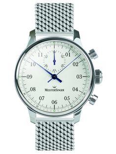 MeisterSinger | Singular weiß, Milanaise klassisch | Edelstahl | Uhren-Datenbank watchtime.net