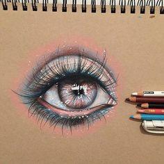 Awesome eye _ art by kathleensanders
