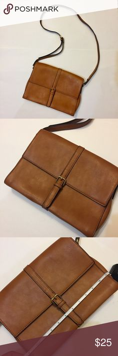 Cognac messenger bag purse Cognac messenger bag purse. Sizing is pictured with measuring tape. Bags