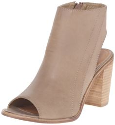 Very Volatile Women's Michelle Dress Sandal, Taupe, 9 B US. stacked leather heel. padded insole.