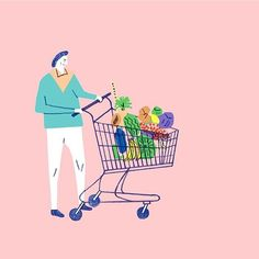 Ruohan Wang @ruohan__wang #illustration #supermarket #ruohanwang by illustrated.doris