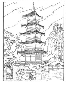 Places of the world Coloring Pages 5