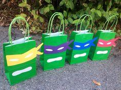 12Ninja Turtles Party Favor Bags 12 Favor by FantastikCreations, $22.00