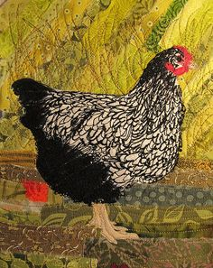 Embroidered chicken by Dancing Crow