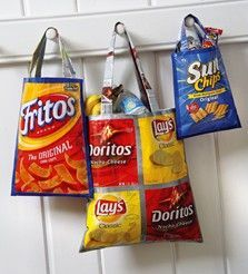 Recycled Chip Bag Totes