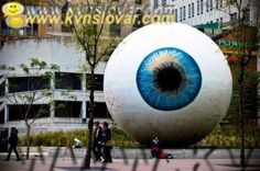Eye see you. Funny Pictures For Kids, Funny Animal Pictures, Funny Statues, Last Day In Office, Chicago Usa, New Earth, The Real World, Banksy, Installation Art