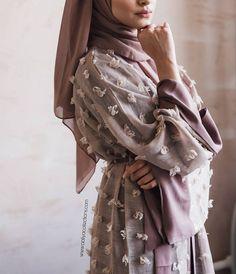 Tassle Abaya now restocked! Available online - www. 💕 Tassle Abaya now restocked! Available online – www. Hijab Outfit, Hijab Dress, Abaya Fashion, Muslim Fashion, Modest Fashion, Abaya Designs, Modest Wear, Modest Outfits, Abaya Mode