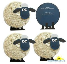 shaun het schaap rijstwafel traktatie Shaun the Sheep as a toddler and preschooler treat from a rice Cumple Toy Story, Festa Toy Story, Toy Story Party, Farm Birthday, Toy Story Birthday, Birthday Treats, Diy For Kids, Crafts For Kids, Diy Crafts