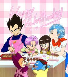 Trunks Y Mai, Super Trunks, Vegeta And Bulma, Android 18, Rwby, Dragon Ball Z, Valentines Day, Anime, Fan Art