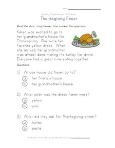 Printables Thanksgiving Reading Comprehension Worksheets comprehension the ojays and native american history on pinterest thanksgiving reading worksheet