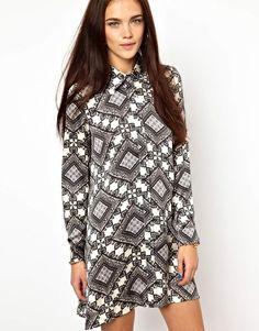 Image 1 ofGlamorous Swing Shirt Dress In Bandana Print