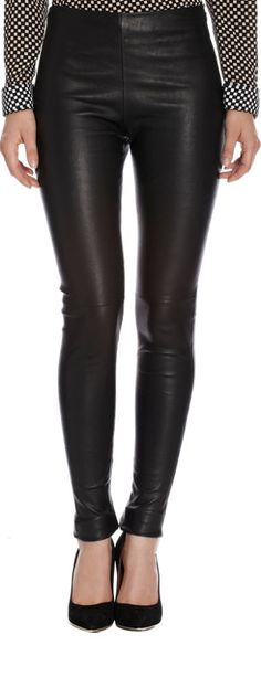 Balenciaga Leather Legging at Barneys.com