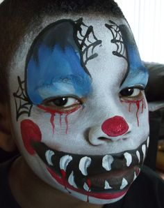 1000 images about scary clowns on pinterest scary for Face painting clowns for birthday parties