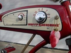 The 1955 Huffy Radio Bike. Now this is one cool vintage bicycle radio!