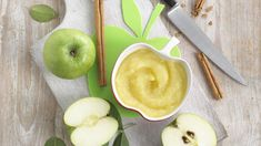 Annabel Karmel's delicious apple purée makes a perfect meal or dessert for a weaning baby.