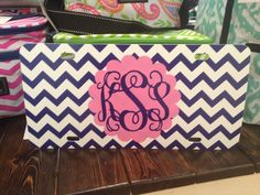 Chevron, pink and a monogram. It doesn't get much better than this!  Get this and other amazing items at www.facebook.com/thelemontreemilledgeville