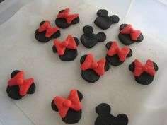 how to make minnie mouse heads with fondant