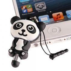Stylet en silicone Panda pour ecran tactiles prise mini jack 3.5mm